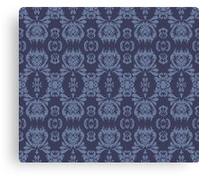 Mormor Damask - Navy Canvas Print