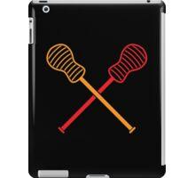 Crossed LACROSSE sticks iPad Case/Skin