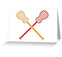 Crossed LACROSSE sticks Greeting Card