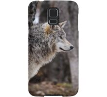 Timber Wolf in trees Samsung Galaxy Case/Skin