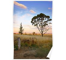 As evening descends ~ Riverina NSW Poster