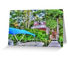 House Atop The Lake Greeting Card