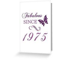 1975 Fabulous Birthday Greeting Card