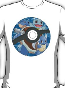 Pokeball, Squirtle, Wartortle, Blastoise T-Shirt