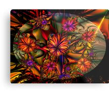 Flowered Bush Metal Print