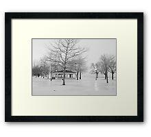 Ontario Beach Park in Black and White Framed Print