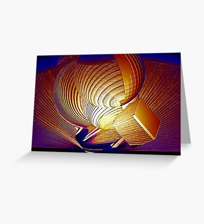 Geometric Tornado Greeting Card