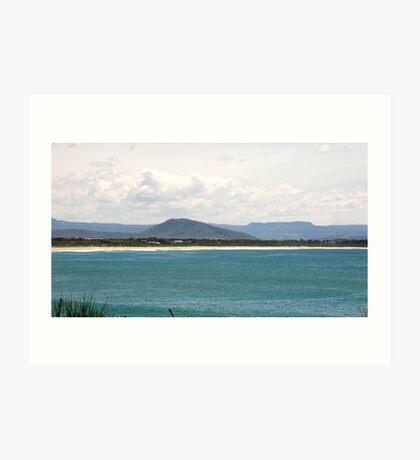 Culburra Beach with Coolangatta Mountain Art Print