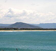 Culburra Beach with Coolangatta Mountain by Laura Moore