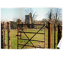 the rustic gate Poster