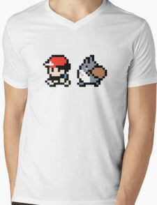 Totoro Pokemon Sprite V2! Mens V-Neck T-Shirt