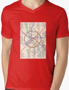 MOSCOW METRO Mens V-Neck T-Shirt