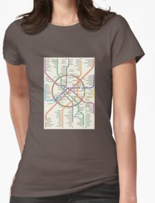 MOSCOW METRO Womens Fitted T-Shirt