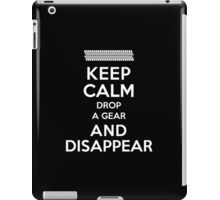 Funny 'Keep Calm, Drop a Gear and Disappear' Drag Racing T-Shirt iPad Case/Skin