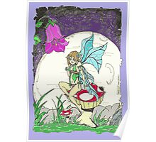 Resting Fairy- coloured Poster