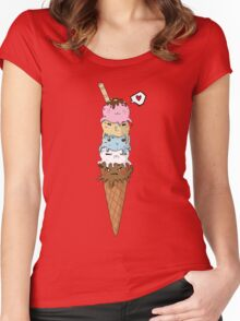 OctoCream Women's Fitted Scoop T-Shirt