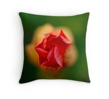 Closed hybiscus Throw Pillow