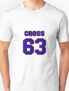 National football player Justin Cross jersey 63 T-Shirt
