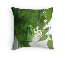 Dangling leaf Throw Pillow