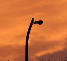 Street Lamp Sunset by erikasorous