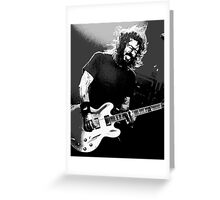 Dave Grohl - Black Rocking Out Greeting Card