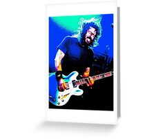 Dave Grohl - Black Rocking Out Colour Greeting Card