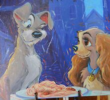Disney Lady And The Tramp Disney Dogs Spaghetti Dinner by notheothereye