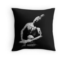 Buddha Statue at ArtIC Throw Pillow