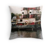 Locks Point Barge Throw Pillow
