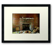 That Ol Fireplace Framed Print