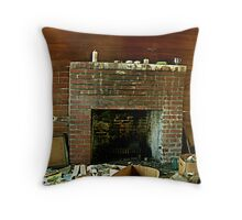 That Ol Fireplace Throw Pillow