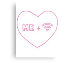 me + wifi heart Metal Print