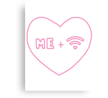 me + wifi heart Canvas Print
