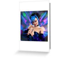 Blue Mischief Greeting Card