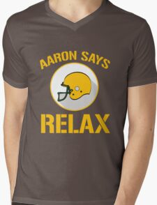 Aaron Says Relax - Green Bay Mens V-Neck T-Shirt