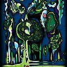 """Night Garden"" or ""Appleface"" by Lyuda"