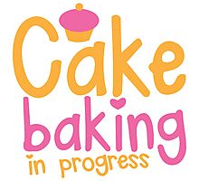 Cake baking in progress Photographic Print