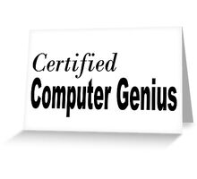 Computer Genius Greeting Card