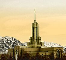 Mount Timpanogos Temple - Golden Light by Ryan Houston