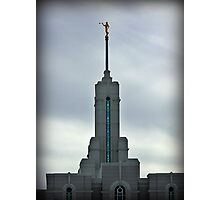 Mount Timpanogos LDS Temple - Steeple Photographic Print