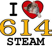 I LUV CHESAPEAKE & OHIO STEAM #614 by TrainmasterBob