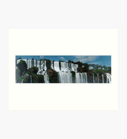 Iguazu panorama Art Print