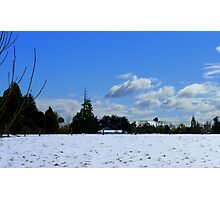 Spring snow Rural NZ - Near Gore - Southland  Photographic Print