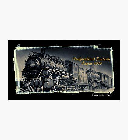 Newfoundland Railway Engine 1010 Photographic Print