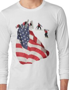All American Snowboarder Long Sleeve T-Shirt