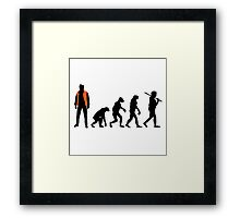 Back to the future past future past Framed Print