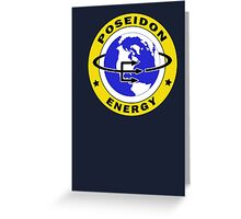 Poseidon Energy Greeting Card