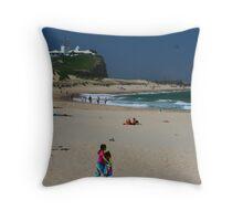 Newcastle Series - Nobbys Beach Throw Pillow