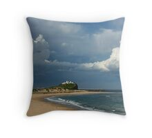 Newcastle Series - Clouds over Nobbys Beach Throw Pillow