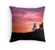 Sunset in Auckland, NZ Throw Pillow